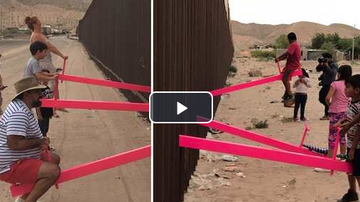 Qui West - Two California Professors Built A Seesaw Across The U.S.-Mexico Border!