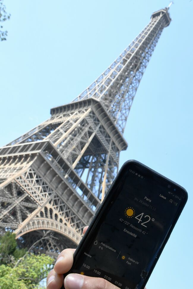 FRANCE-WEATHER-CLIMATE-HEAT