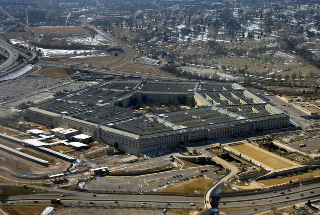 US Pentagon seen from above