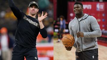 Louisiana Sports - Saints' Brees Describes Kinship With Pelicans' Williamson