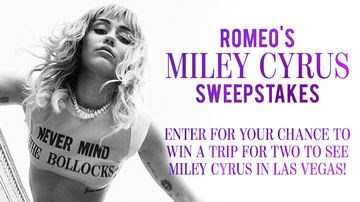 Contest Rules - Romeo's Miley Cyrus Sweepstakes Rules