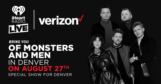 iHeartRadio LIVE and Verizon bring you Of Monsters and Men
