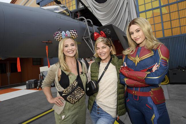 Actresses Sarah Michelle Gellar and Selma Blair Celebrate Decades of Friendship at Disneyland Resort