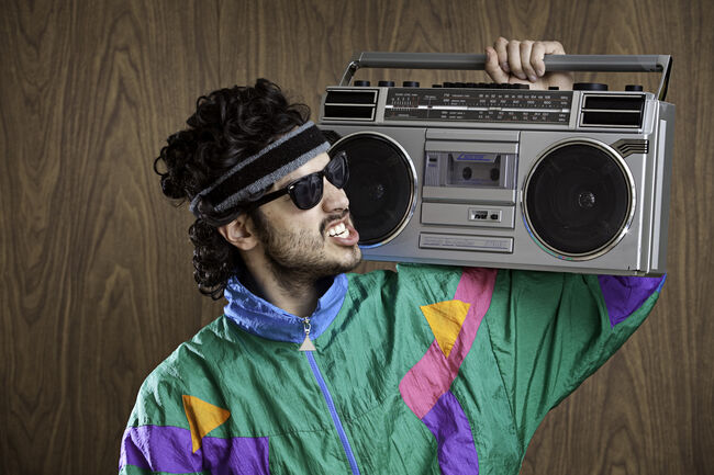 Fashion of the 1980's & 90's With Boombox