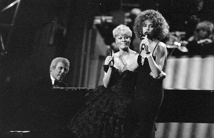 Burt Bacharach, Dionne Warwick and Whitney Houston