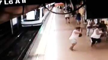 The Jim Colbert Show - Whoa: Man Gets Kicked In The Back & Falls Right In Front Of A Metro Train!