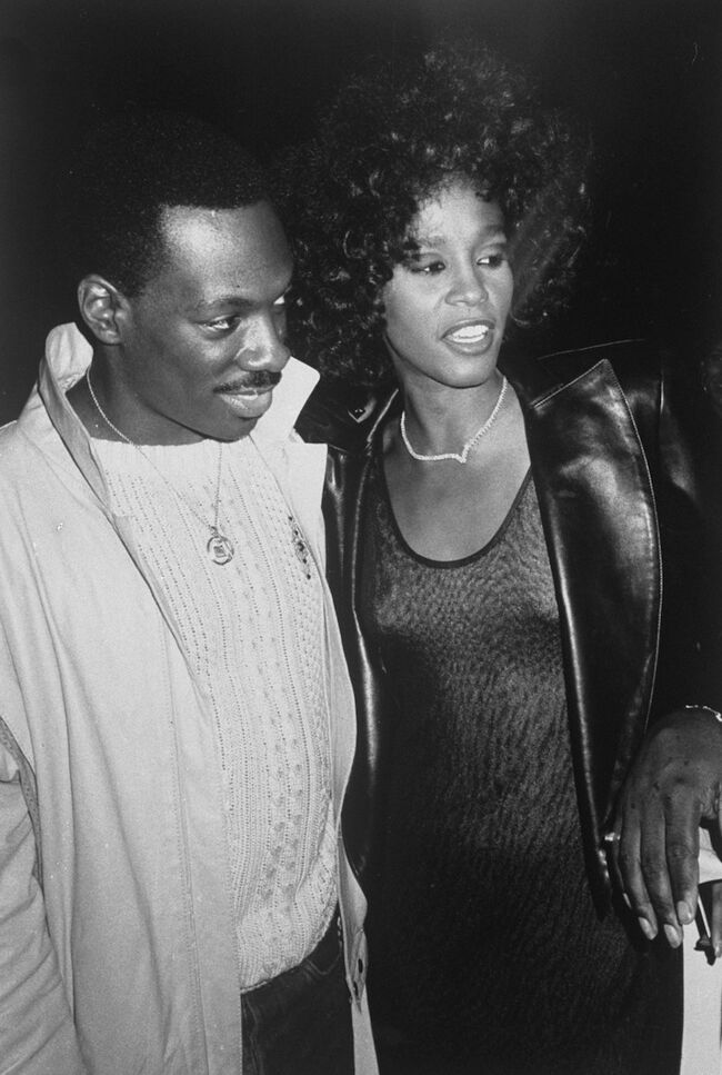 Eddie Murphy and Whitney Houston after concert.