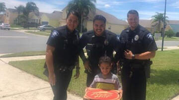 Weird News - Florida Cops Deliver Pizza To Young Boy Who Called 911 Saying He Was Hungry