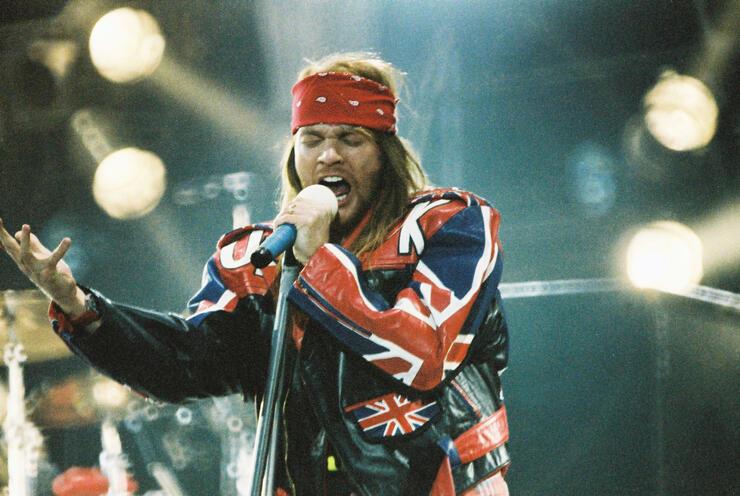 Guns n Roses Perform At The Freddie Mercury Tribute Concert 1992