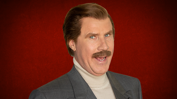 iHeartRadio Podcasts - Ron Burgundy Drinks With His Mouth Open 'Like A Cobra'