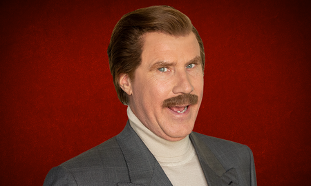 Trending - Ron Burgundy Drinks With His Mouth Open 'Like A Cobra'