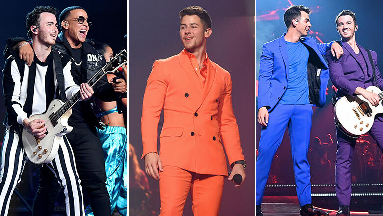 The Jonas Brothers supported by doting wives on opening night of tour