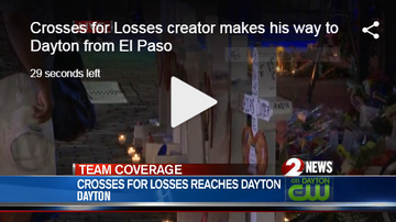Josh Martinez - CROSSES FOR LOSSES: Man Travels From El Paso To Dayton For Victims