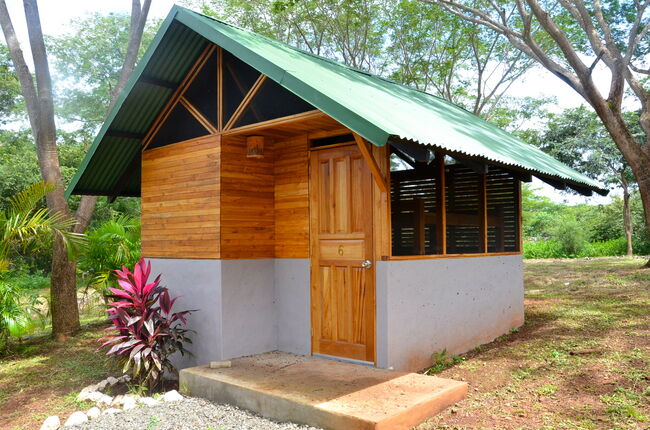 Small cabin at a tropical retreat-getty images