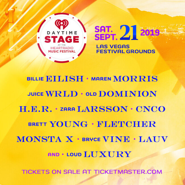 2019 Daytime Stage at the iHeartRadio Music Festival