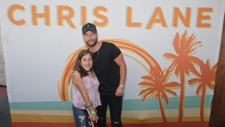 Chris Lane Gives Special Fan The 'Best Night Of Her Life'