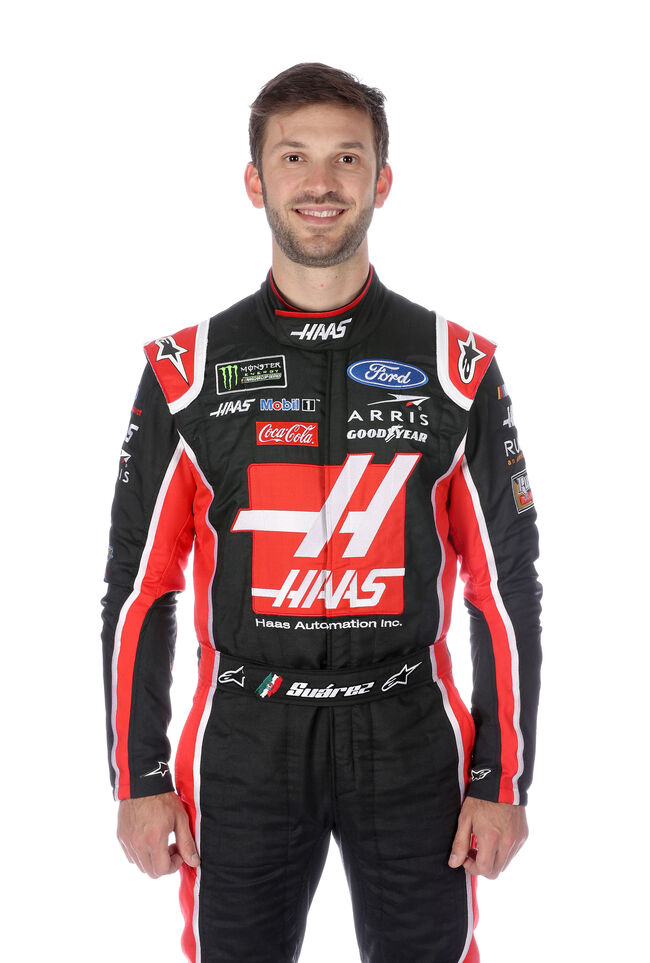 CHARLOTTE, NC - JANUARY 29: Monster Energy NASCAR Cup Series driver Daniel Suarez poses for a portrait during the NASCAR Production Photo Days at Charlotte Convention Center on January 29, 2019 in Charlotte, North Carolina.