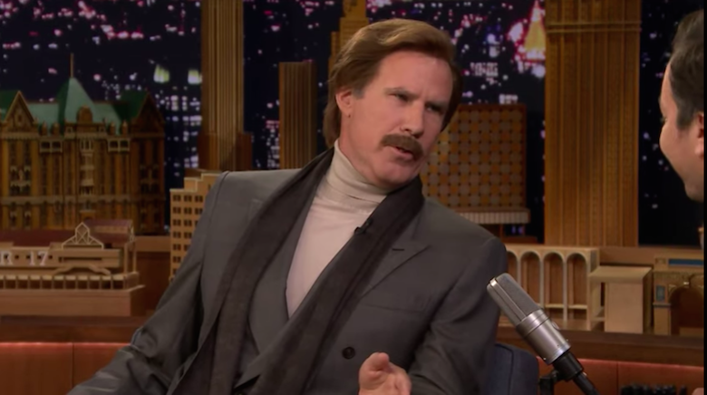 Watch Will Ferrell Invade 'Kimmel,' 'Colbert,' 'Fallon' as Ron Burgundy