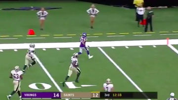 Vikings Blog - WATCH: Nate Meadors takes a PICK-SIX to the house against the Saints!
