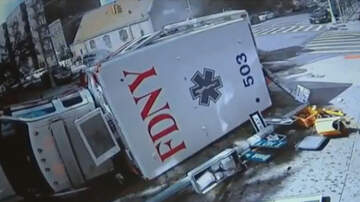 Weird News - Dramatic Video Captures Two Ambulances Crashing In New York City