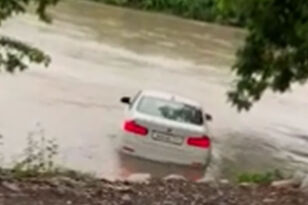 Angry Son Pushes BMW Into River Because His Parents Didn't Buy Him A Jaguar