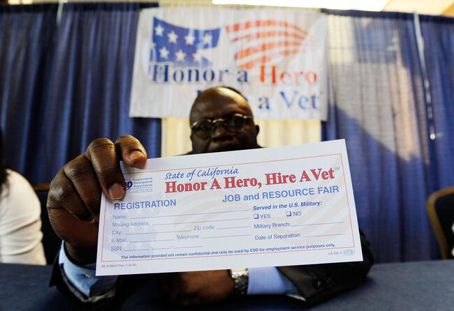 Job Fair Held For Veterans In Los Angeles