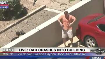 Tim Ben & Brooke - Guy Busts Out Dance Moves For News Helicopter In Scottsdale, AZ