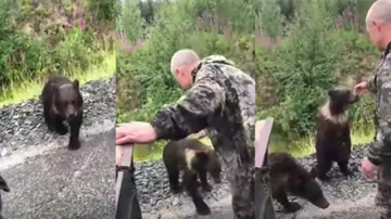 Johnjay And Rich - Man Painfully Learns Why You Should Never Pet A Wild Bear Cub