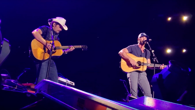 Brad Paisley Joins Riley Green For Duet Of 'I Wish Grandpas Never Died' | iHeartRadio