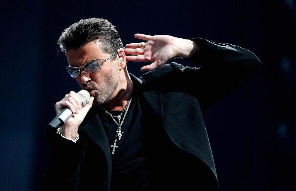 British singer George Michael performs d