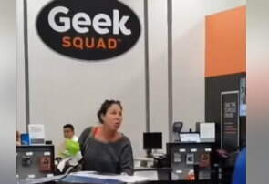 Hitman - Woman Loses it When She was Told She Cannpt return items at Best Buy
