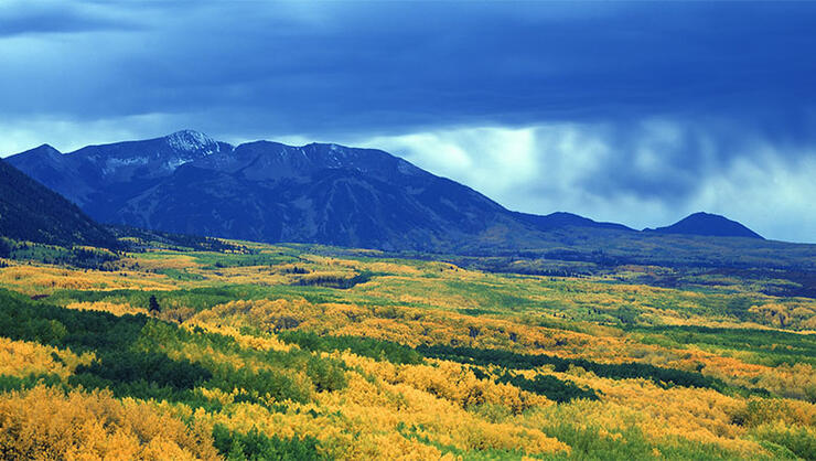 Autumn clouds at Kebler Pass, Gunnison National Forest, Colorado