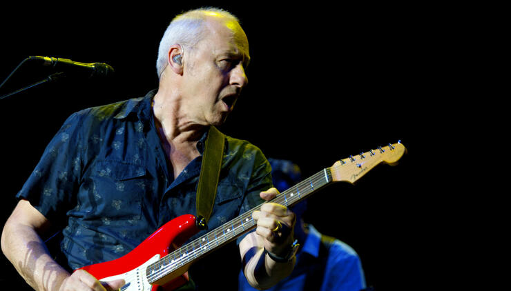 Mark Knopfler Performs in Concert in Madrid