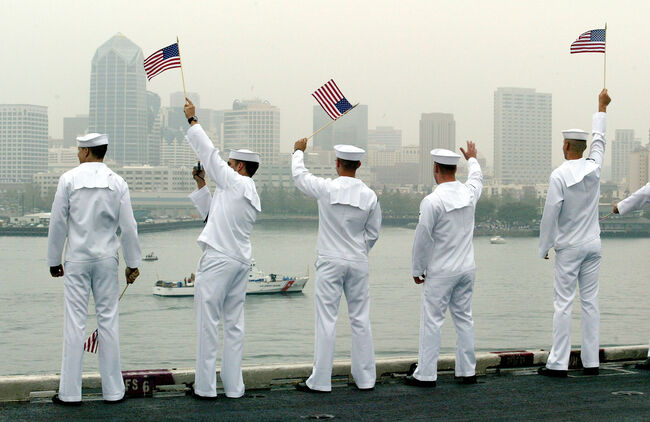 USS Constellation Returns Home From Persian Gulf Area