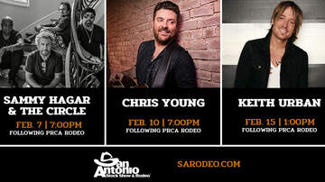 San Antonio Rodeo - Keith Urban, Chris Young and Sammy Hagar & the Circle coming to Rodeo