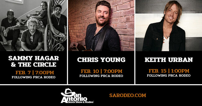 San Antonio Stock Show And Rodeo 2020.Keith Urban Chris Young And Sammy Hagar The Circle Coming