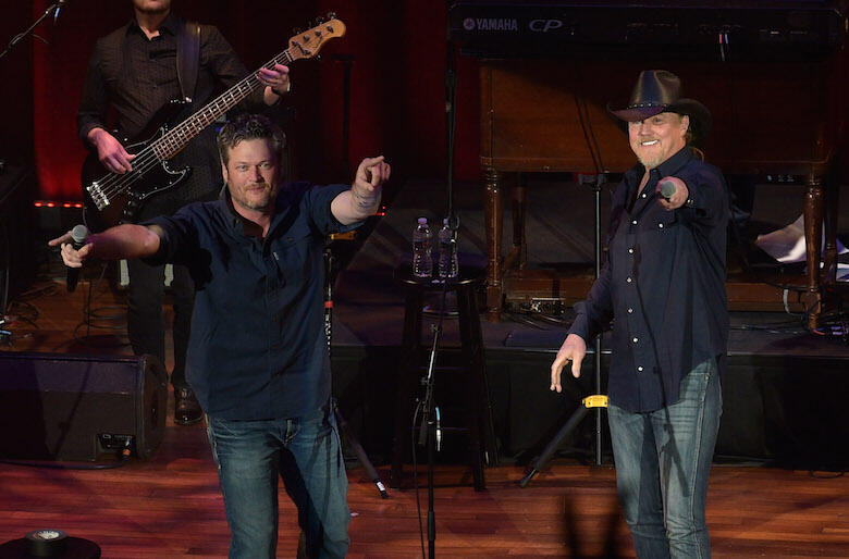 """Blake Shelton Teams Up with Trace Adkins for Rowdy New Anthem """"Hell Right"""""""