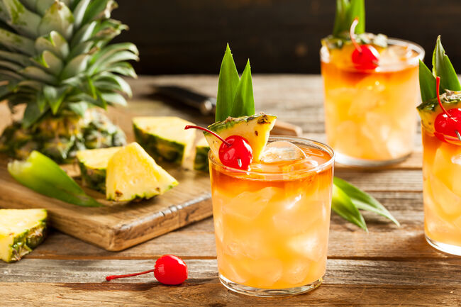 Homemade Mai Tai Cocktail