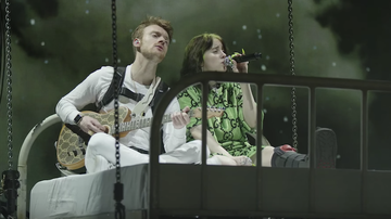 Trending - Billie Eilish And Her Brother Float In A Bed During 'I Love You' Live Video