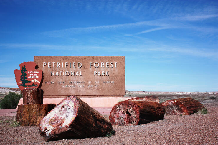 Welcome to Petrified Forest National Park in Arizona, Route 66