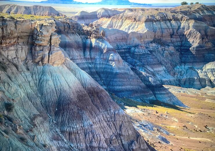 Blue Mesa Trail at Petrified Forest National Park in Arizona, USA