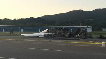 Klinger - Dale Earnhardt Jr., Family 'Safe' After Plane Goes Off Runway, Catches Fire