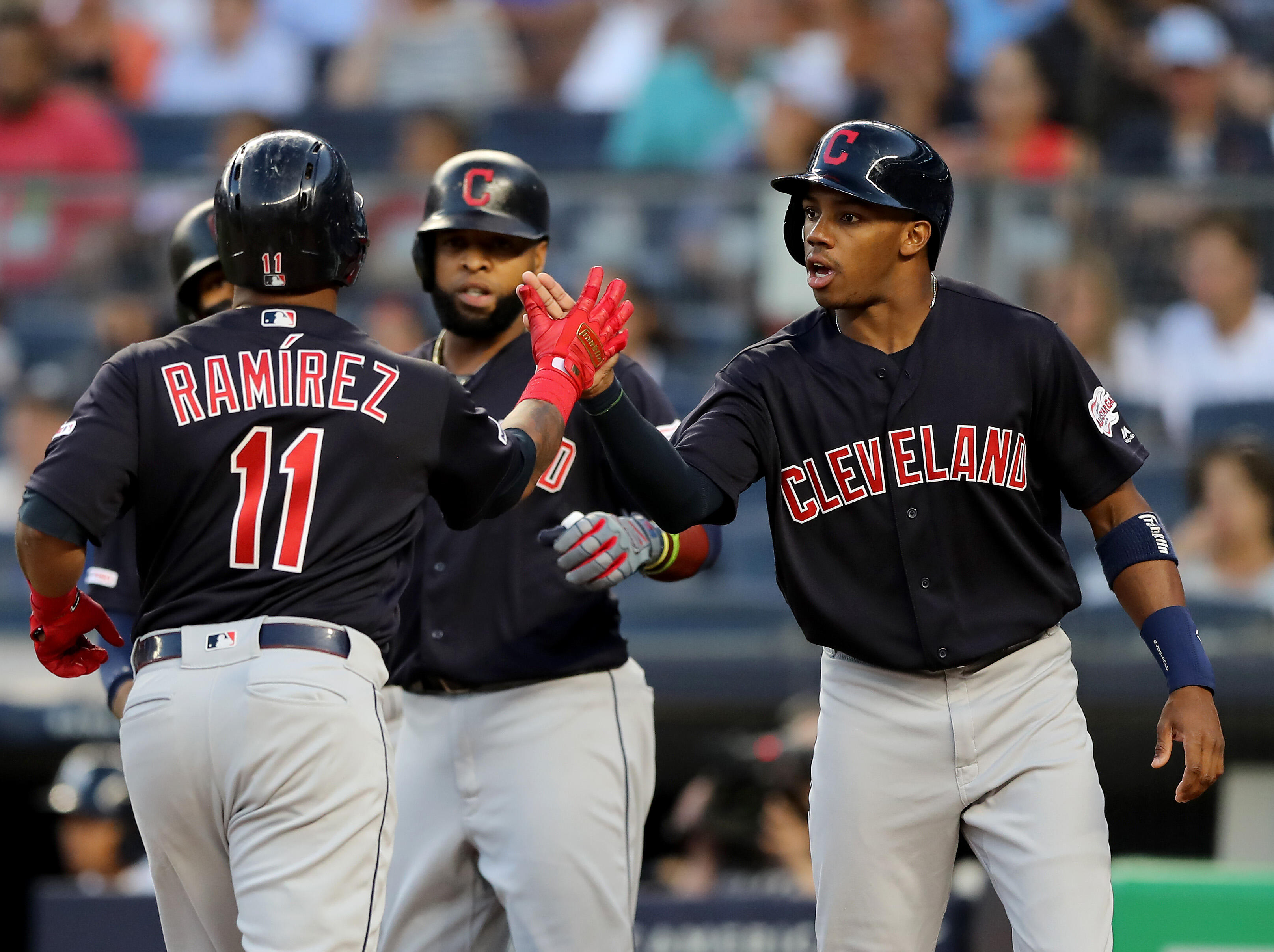 Tribe Score 19 in Win Against the Yankees, as The Fight for First Continues
