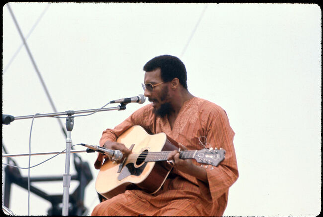 Richie Havens Performs At Woodstock