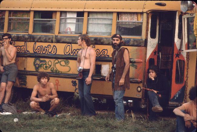 Hog Farm Bus At Woodstock