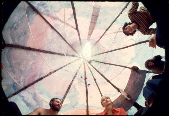 Inside A Tipi At Woodstock