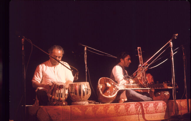 Ravi Shankar Performs At Woodstock