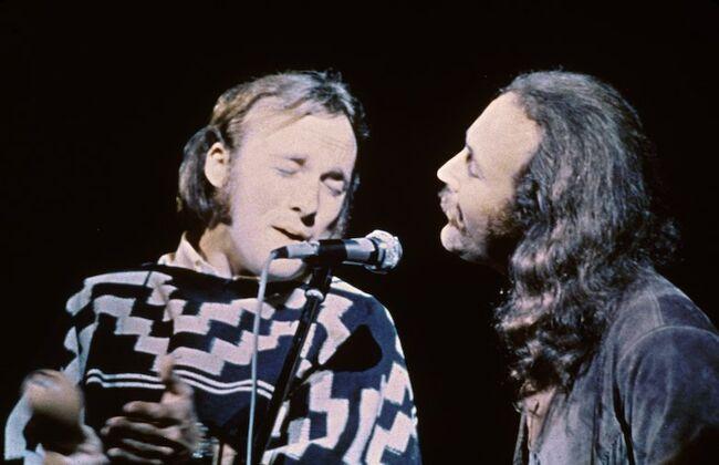 Crosby, Stills, & Nash On Stage At Woodstock
