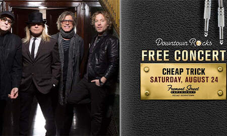 None - Cheap Trick on the 3rd Street stage at Fremont Street Experience