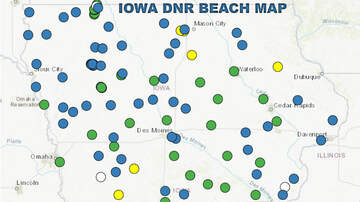 WHO Radio News - Swimming not advised at some beaches due to bacteria: IOWA BEACH MAP
